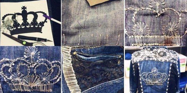Как преобразить джинсовую куртку своими руками