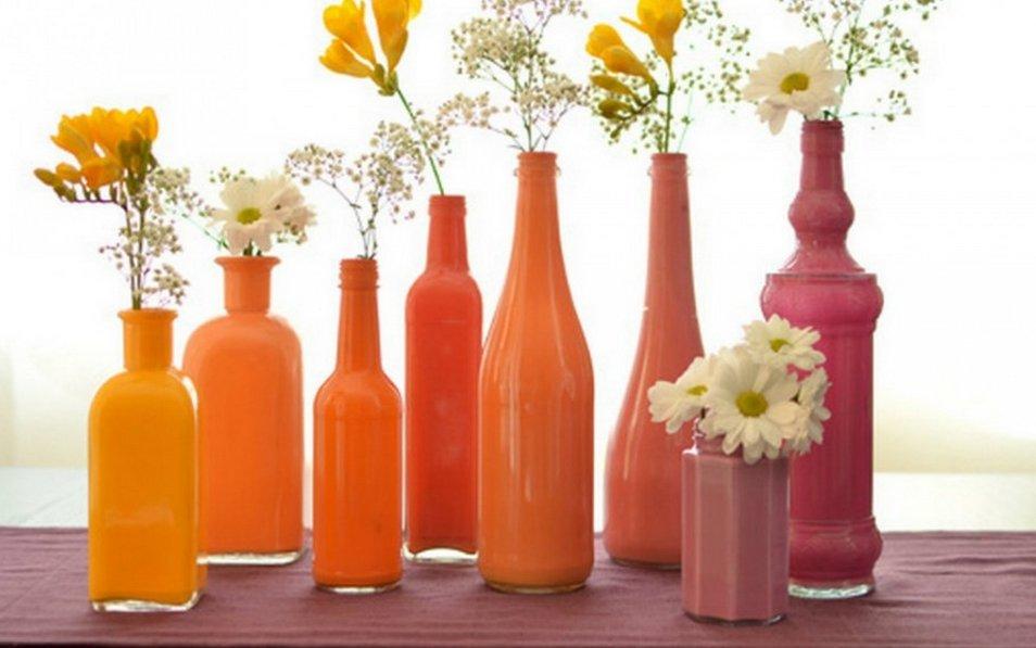 Вазы для цветов своими руками из бутылок пластиковых