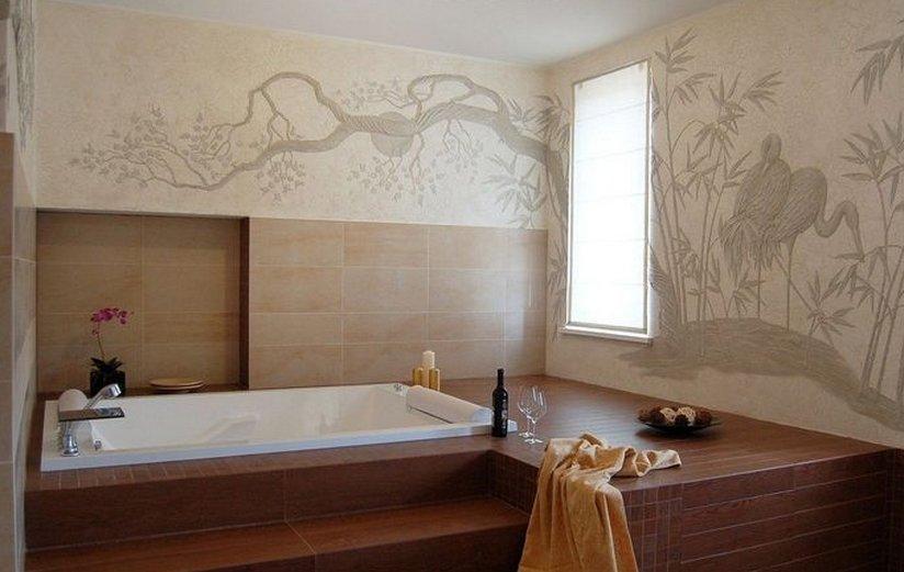 Встроенная ванна в подиум