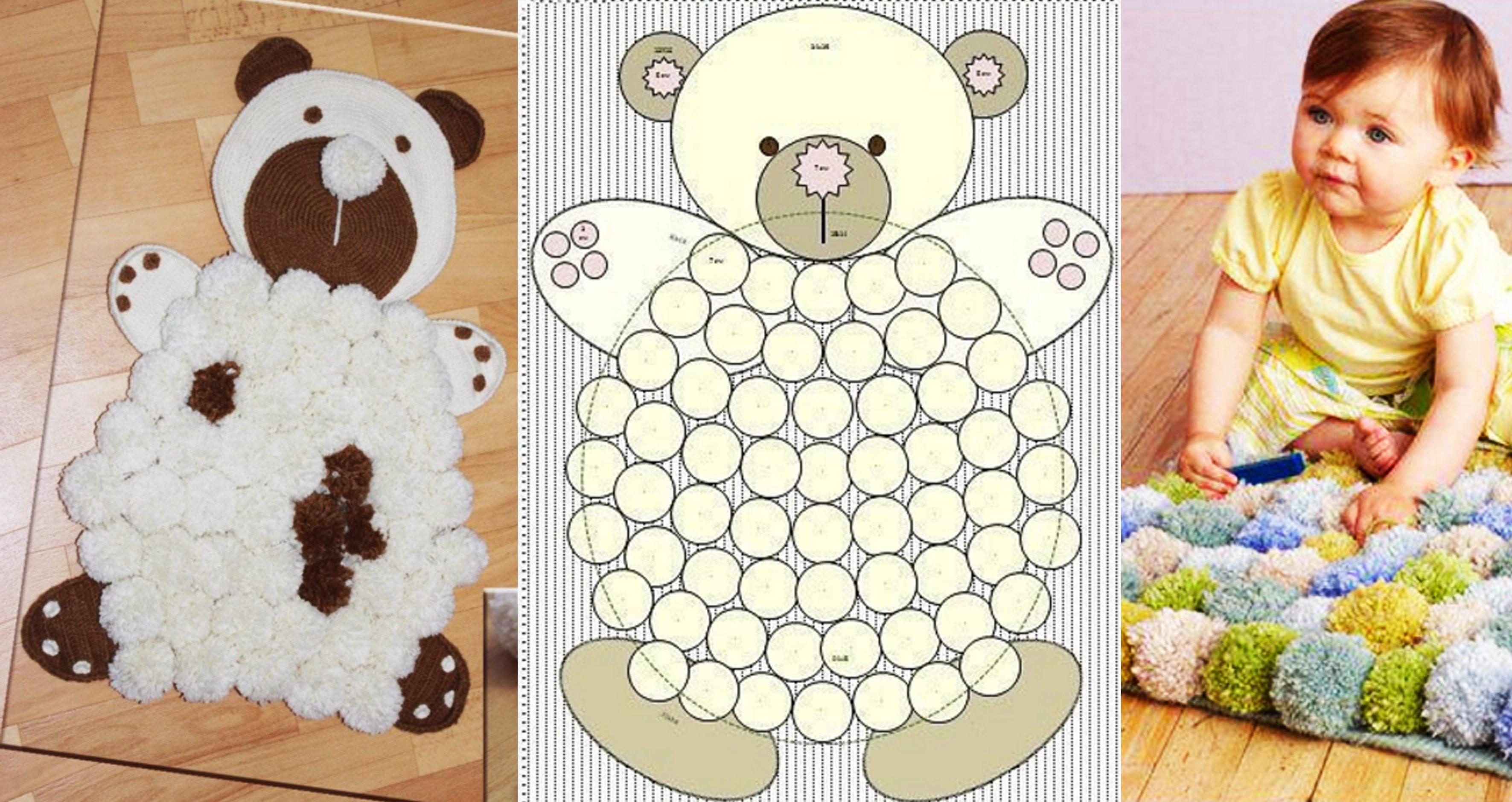 Сделать коврик в детскую своими руками