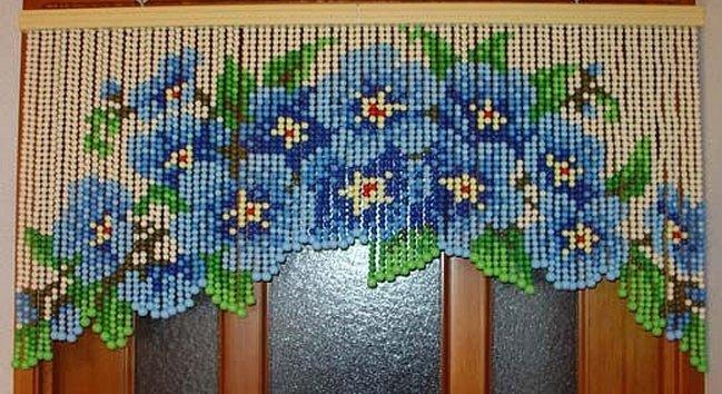 Сделать штору из бусин своими руками