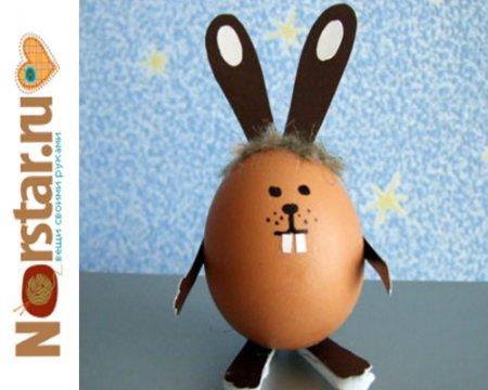 Как сделать зайца из яиц