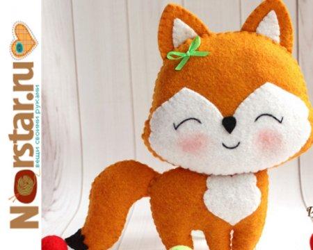 Игрушка из фетра своими руками: лисичка