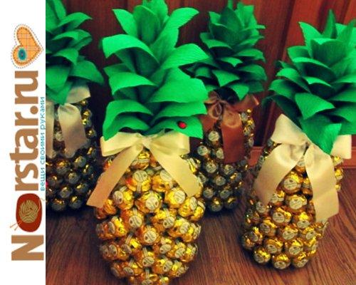 Все ананасы из конфет сделать своими руками 914