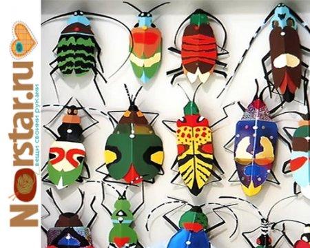 Поделки из бумаги: правдоподобные жуки