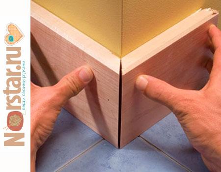 Как сделать деревянные плинтуса своими руками 985