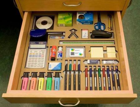 Организация органайзера в выдвижном ящике