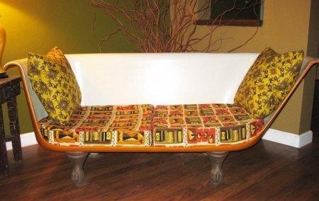 Как сделать диван из ванны