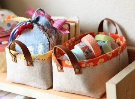 Текстильная корзинка для мелочей