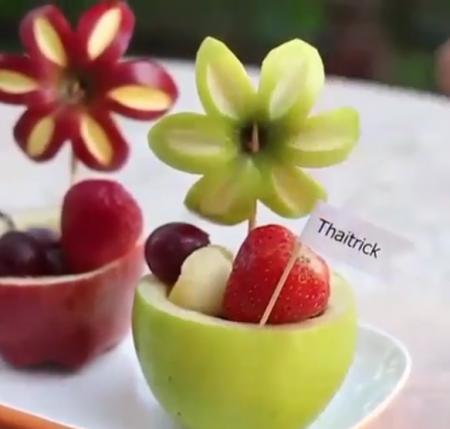 Как просто и красиво нарезать яблоко к праздничному столу