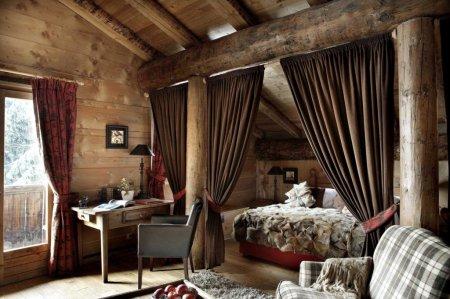 Шторы в спальню в деревенском стиле