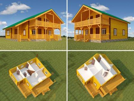 Где найти каталог деревянных домов из бруса и их 3D модели