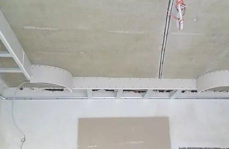 Как сделать самому двухуровневый потолок из гипсокартона: второй уровень