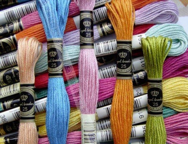 Разновидности ниток для вышивки