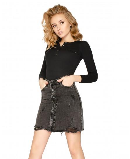 Как правильно подобрать джинсовую юбку